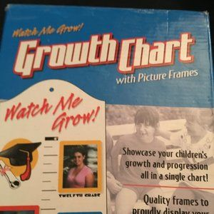NIB Watch Me Grow Growth Chart With Picture Frames